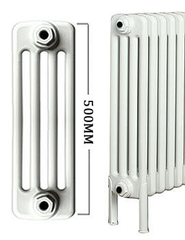 Roma Horizontal 4 Column Steel Radiator With Feets 500mm Height