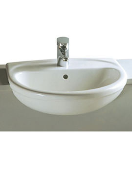 Arkitekt 58cm Semi-Recessed Basin 1TH - 6130B003-0005