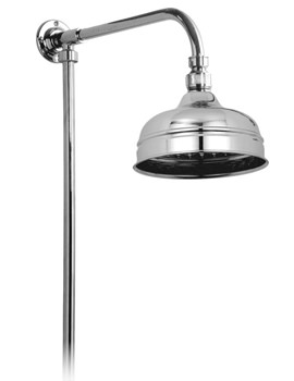 Traditional Rigid Riser With 150mm Fixed Shower Head - WG-16202