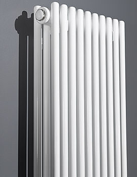 Rimini 1200mm Height Straight Double Tube-On-Tube Radiator White