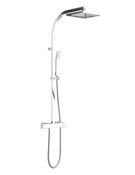 Velo Thermostatic Shower Complete Set Square - VEL-149-RRKSQ-DIV