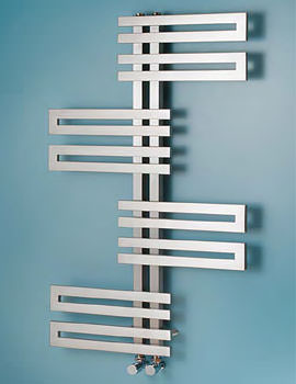 Genova Wave 600mm Width Stainless Steel Towel Warmer