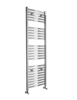 Essential Deluxe Curved White Towel Warmer 600 x 1603mm - 148241