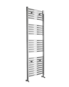 Deluxe Curved Chrome Towel Warmer 600 x 1600mm - 148247