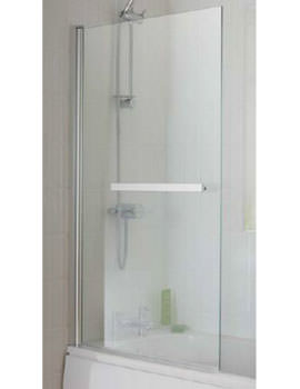 Essential Eclipse Bath Screen With Towel Rail 800x1400mm - EB303