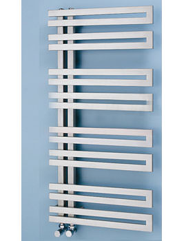 Genova Offset 500mm Width Stainless Steel Towel Warmer