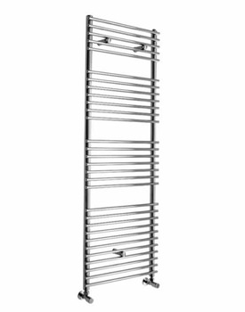 Essential Gemini Straight Chrome Towel Warmer 600 x 1090mm - 148264
