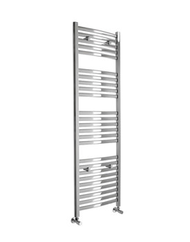 Essential Deluxe Curved White Towel Warmer 600 x 803mm - 148237