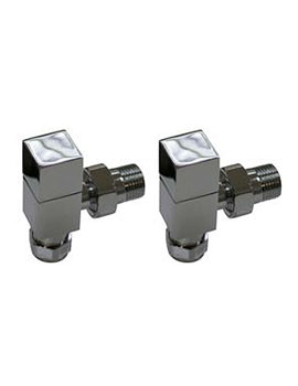 Essential Square Angled Towel Warmer Valve Pair 15mm - 148992