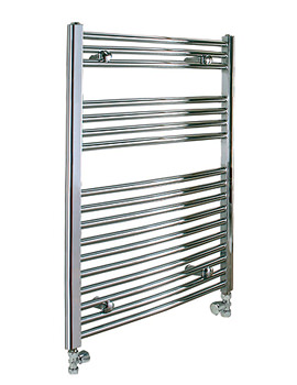 Reina Diva 500 x 800mm Chrome Flat Towel Rail - More Height Sizes Available