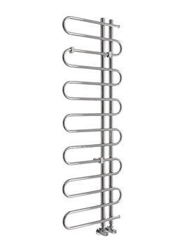 Pisces Tube Chrome Towel Warmer 500 x 1400mm - 148259