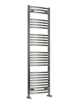 Reina Diva Curved Heated Towel Rail 600 x 1600mm Chrome