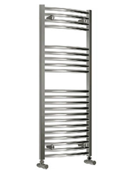 Reina Diva Curved Heated Towel Rail 750 x 1200mm Chrome