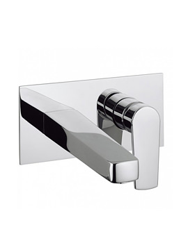 Related Crosswater Solo Wall Mounted 2 Hole Basin Mixer Tap Set - SO121WNC