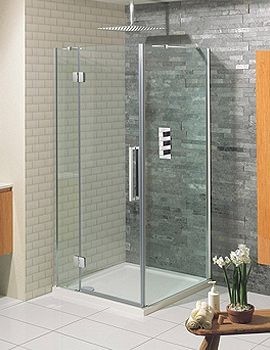 Simpsons Ten Frame-less Hinged Door With Inline Panel 800mm