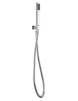 Square Shower Handset With Wall Outlet And Hose