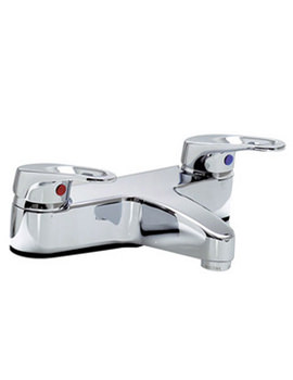 VitrA Atlas Deck Mounted Bath Filler With 2 Tap Holes Chrome - 40098