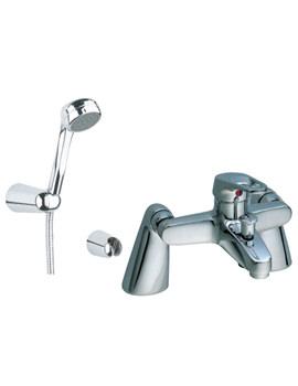 VitrA Atlas Bath Shower Mixer Tap With Handset Chrome - 41321