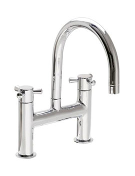 VitrA Riva Bath Filler Tap H Type With Swivel Spout Chrome - 40934