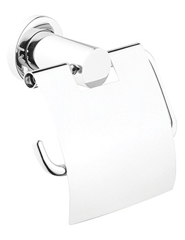 VitrA Ilia Toilet Roll Holder With Cover Chrome - A44390EXP