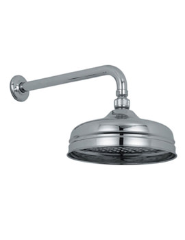 Traditional 200mm Fixed Shower Head And Arm - WG-16102A