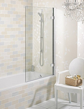 Elite Frame-less Hinged Bath Screen 900mm - LBSSC0900