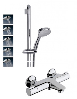 Touch Thermostatic Bath Shower Mixer Tap With 5 Mode Kit
