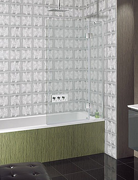 Ten Frame-less Hinged Bath Screen 900mm - TBDSC0900