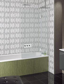 Ten Frame-less Hinged Bath Screen 900mm - TBDSC0900