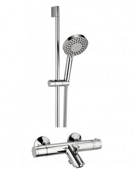 Kai Thermostatic Bath Shower Mixer Tap With 5 Mode Slide Rail Kit