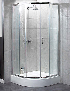 Aqualux Shine Quadrant Shower Enclosure 900 x 900mm Silver