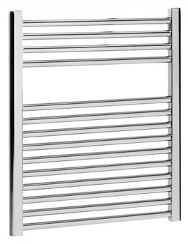 Bauhaus Design Flat Panel Towel Rail Chrome 500 x 690mm - DE50X69C