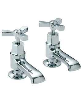 Gracechurch Basin Pillar Taps With Chrome Handles
