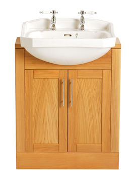 Heritage Granley 610mm 1 Taphole Semi-Recessed Basin - PGRW361