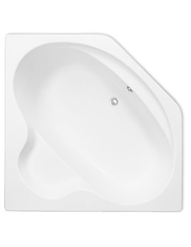 Trojan Bermuda White Corner Bath 1345 x 1345mm