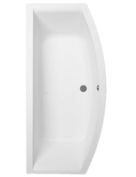 Trojan Arc Bow Fronted Bath 1700 x 850mm White