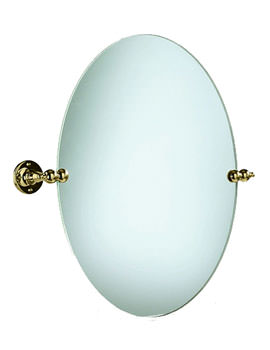 Heritage Oval Swivel Mirror Vintage Gold - AHA17