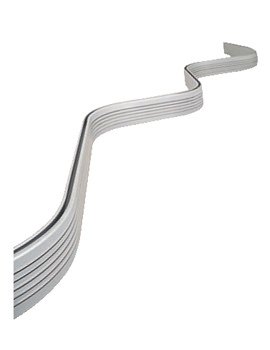 Bendy Shower Curtain Rail 3000mm White