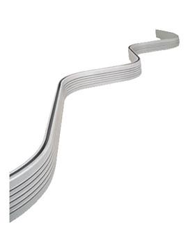 Bendy Shower Curtain Rail 3000mm Silver - GP78200