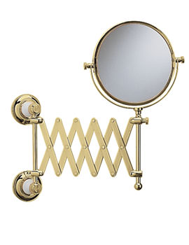Bathroom Mirror Extendable Heritage Clifton Extendable Mirror Vintage Gold    Aca16