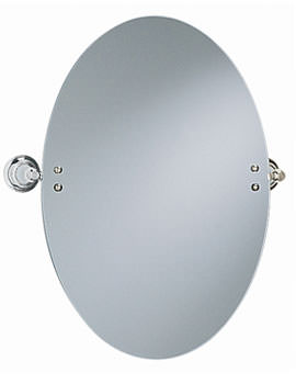 Clifton Oval Swivel Mirror Chrome - ACC17