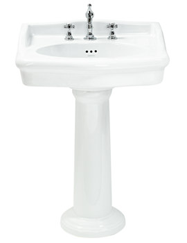 Victoria 650mm 3 Taphole Standard Basin - PVEW063
