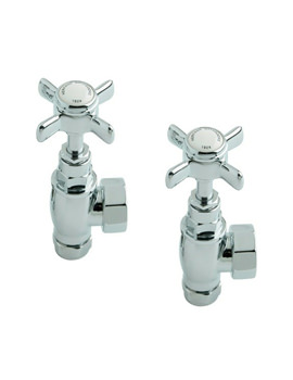 Heritage Pair Of Traditional Radiator Valves Chrome Or Gold