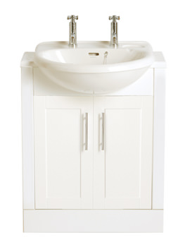 Belmonte Semi-Recessed 585mm 1 Taphole Basin - PBW361