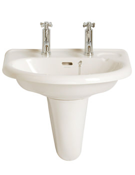 Belmonte 585mm 1 Taphole Wall Hung Basin - PBW061