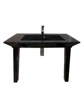 RAK Opulence His Basin With Click Clack Waste And Legs 1000mm Black