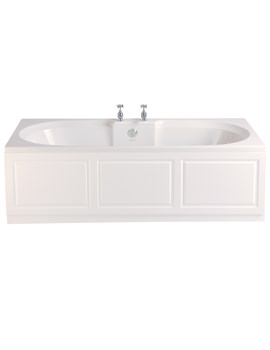 Dorchester 1700 x 750mm Acrylic Solid Skin Double Ended Bath