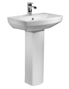Tavistock Vibe 1 Tap Hole Basin With Full Pedestal 460mm - SB745S