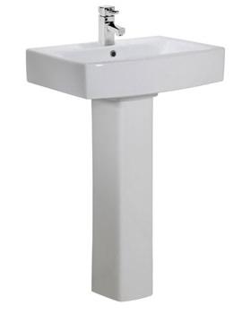 Related Tavistock Tetra 1 TH Ceramic Basin 550mm With Full Pedestal - SB500S
