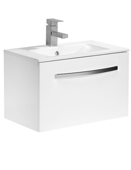 Tavistock Swift 600mm White Wall Mounted Unit And Basin - SW600W